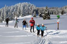 Skiwanderung im Erzgebirge