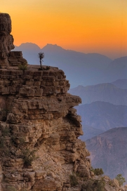 schroffen Gebirgszüge - charakteristisch für Oman