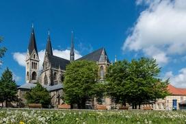 Der Halberstädter Dom ist ein herausragendes Glanzlicht an der Straße der Romanik